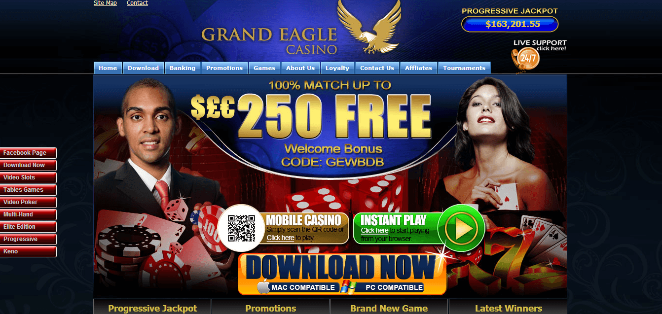 Grand Eagle Casino Review – Is this A Scam/Site to Avoid