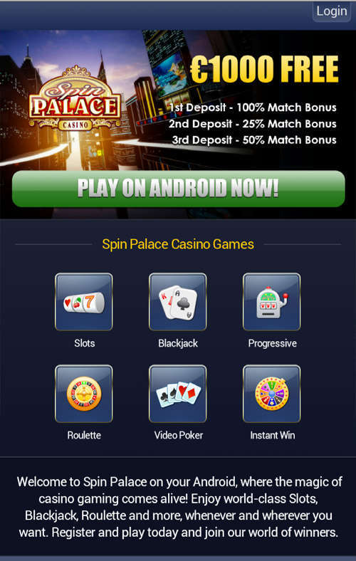 spin palace mobile casino review